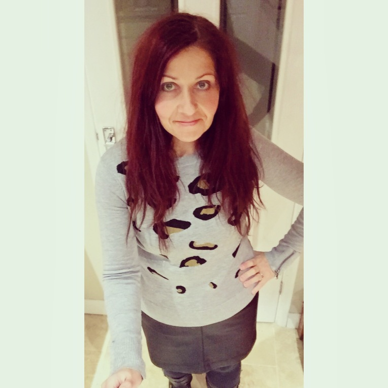 Blueskygirlie wearing Very Myleene Klass intarsia jumper via always a blueskygirl blog