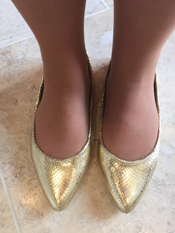coral preppy spring Matalan gold shoes look 6 via Always a Blue Sky Girl blog