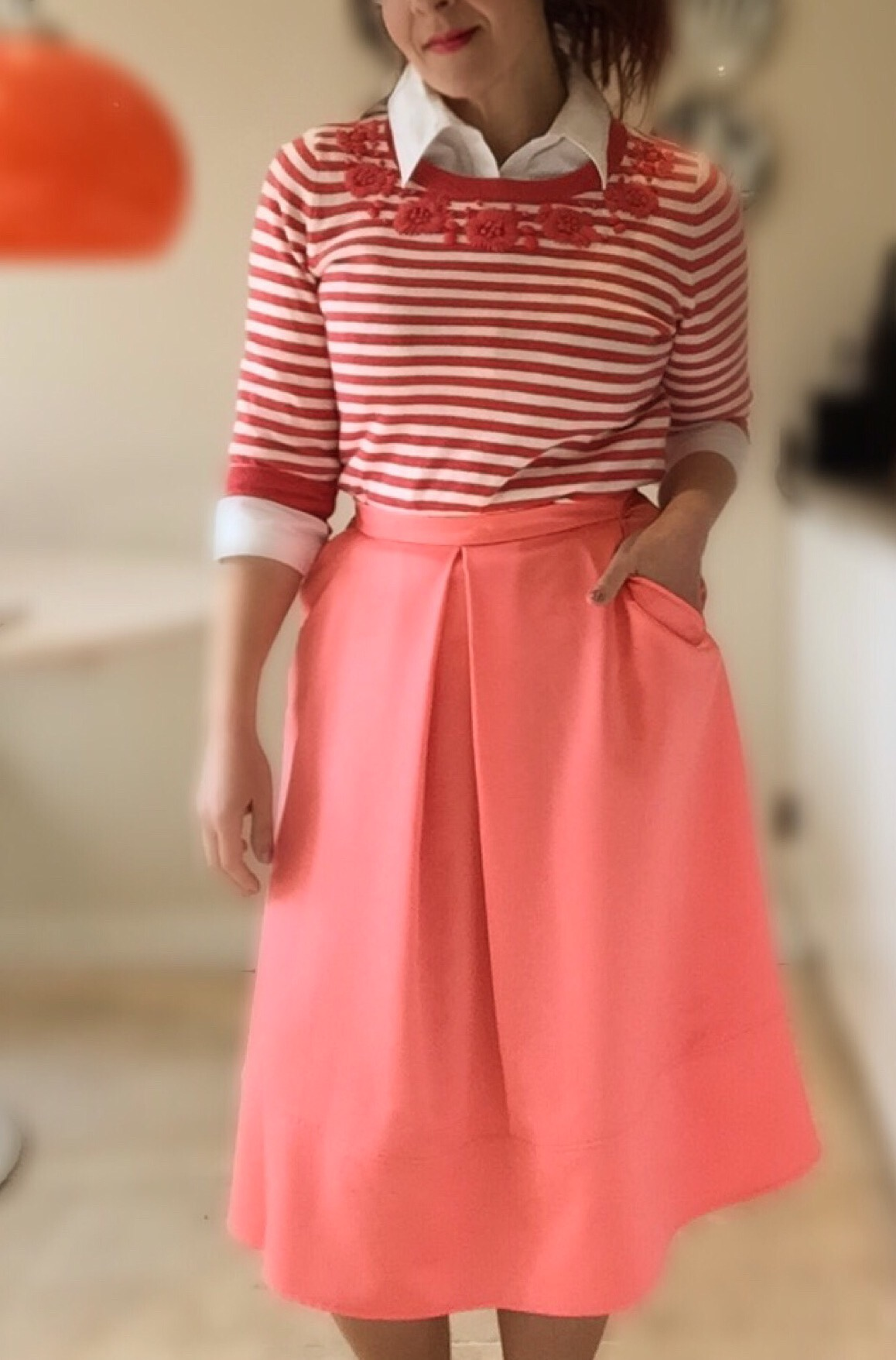 coral preppy spring primark & per una look 2 via Always a Blue Sky Girl blog