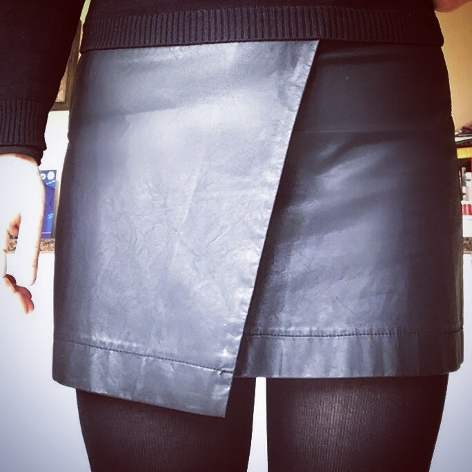 Wednesday Addams inspired Very.co.uk faux leather mini skirt via Always a Blue Sky Girl blog