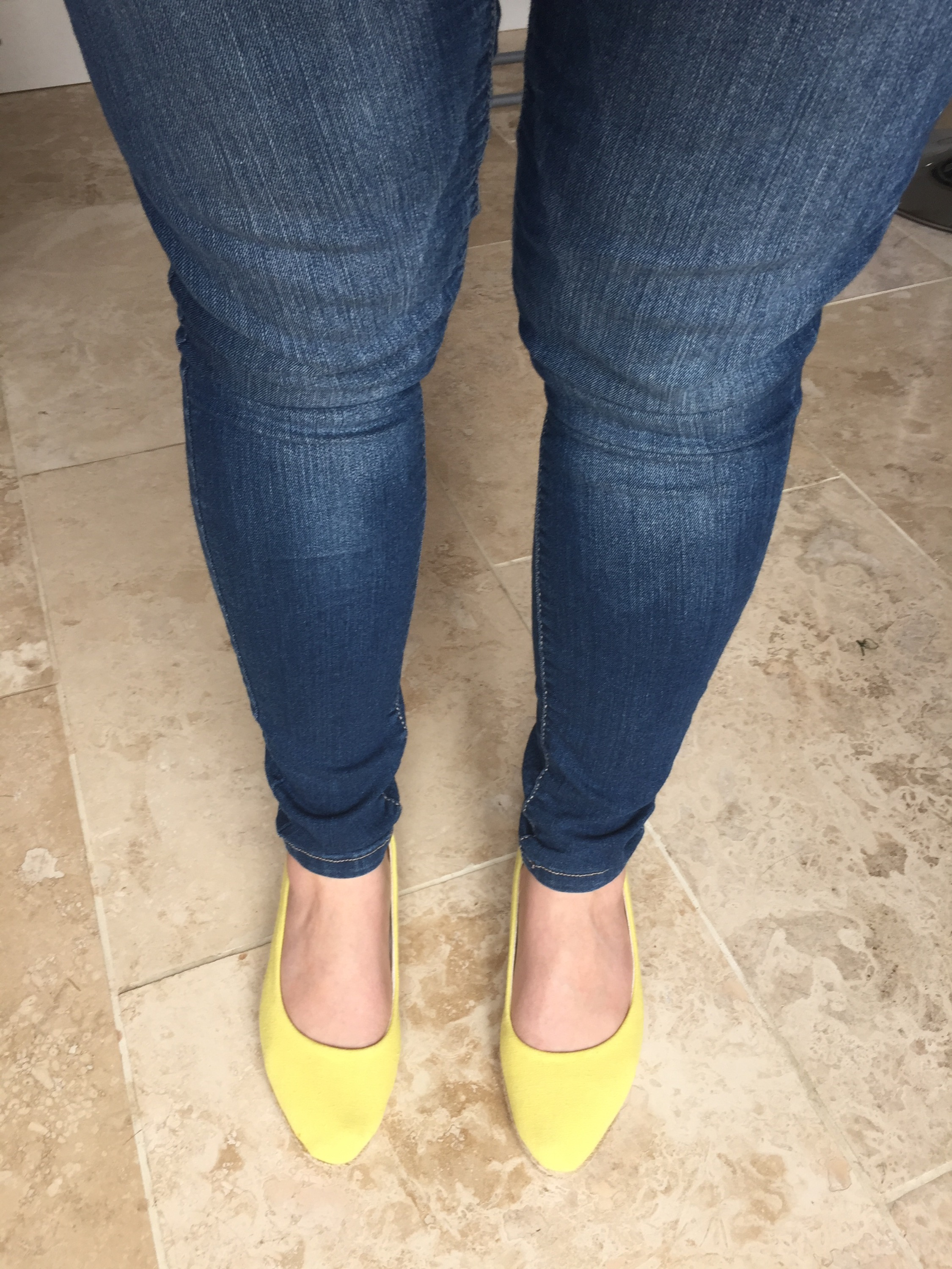 jeans and yellow shoes outfit of the day #ootd always a Blue Sky Girl blog
