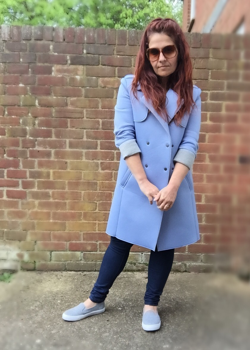 Primark Atmosphere  scuba fabric tench coat #ootd via Always a Blue Sky Girl blog