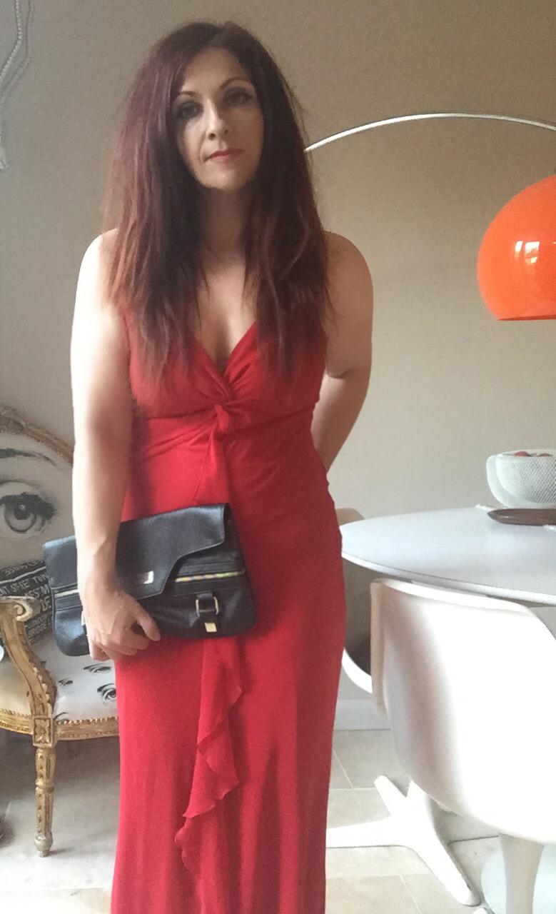 red emoji inspired BHS dress via Always a Blue Sky Girl blog