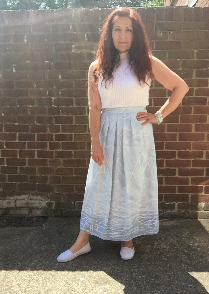 vintage  summer outfit via Always a Blue Sky Girl blog
