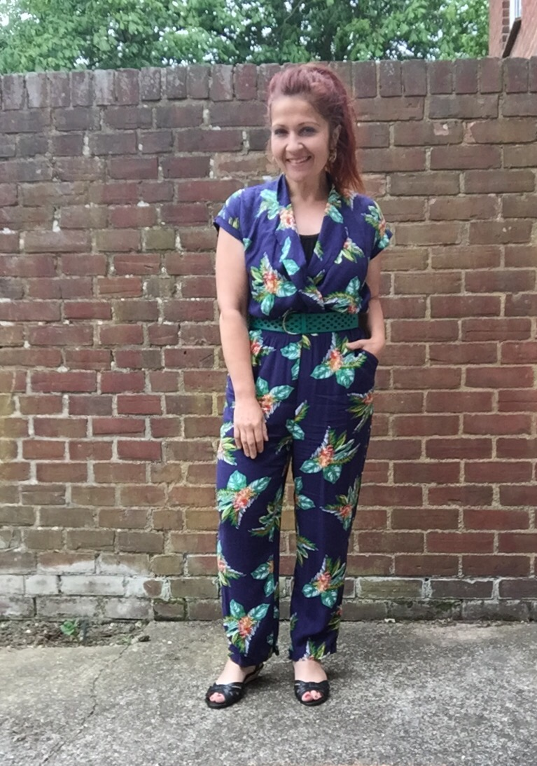 primark tropical palm print jumpsuit via Always A Blue Sky girl fashion blog