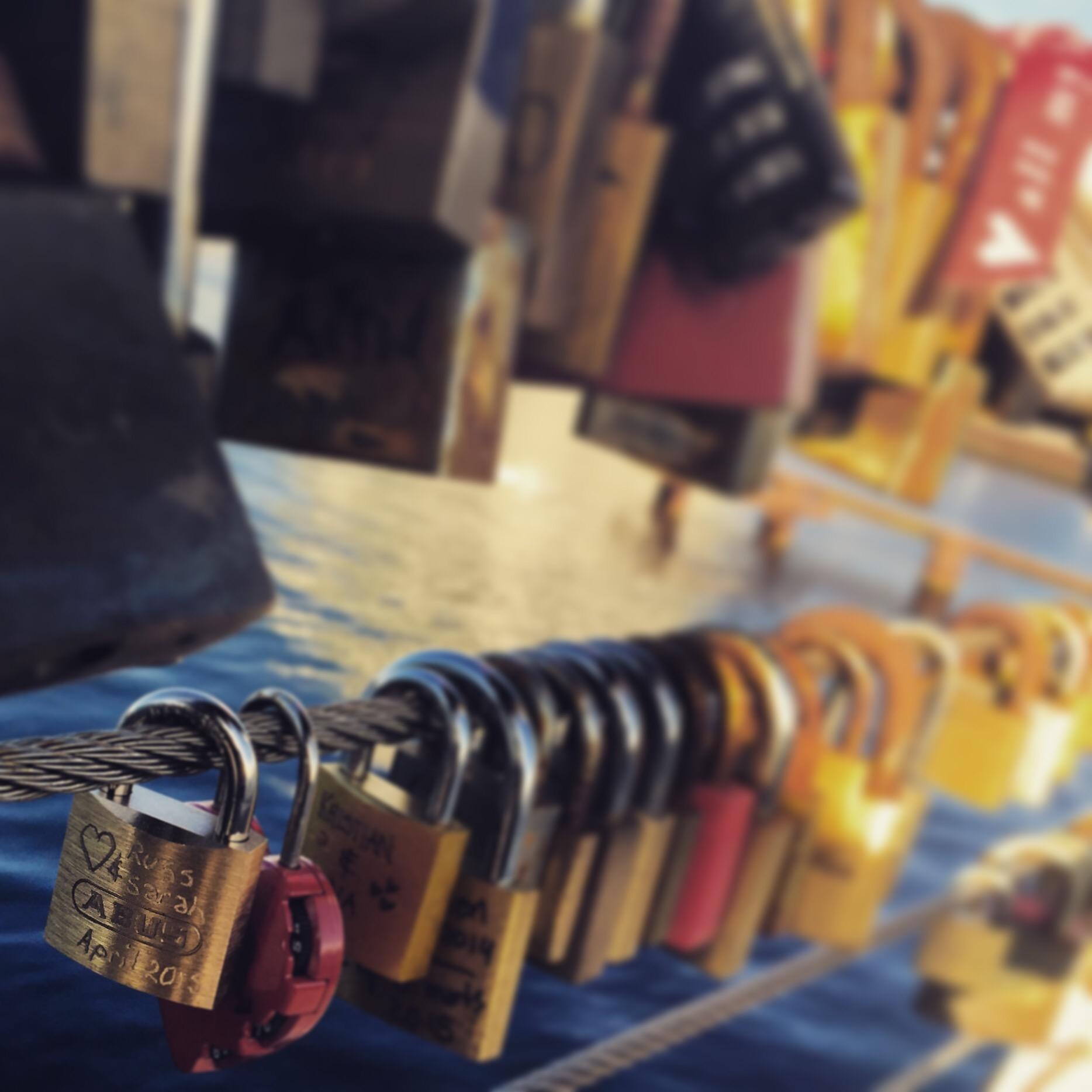 love locks in Copenhagen Denmark via Always a blue sky girl blog