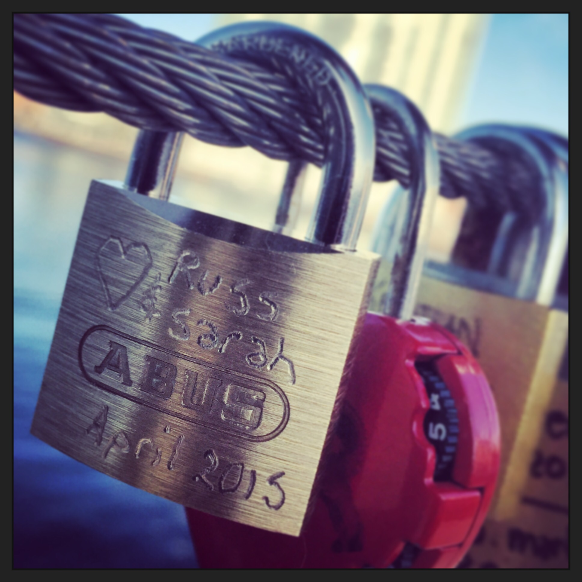 love locks in Copenhagen Denmark via Always a blue sky girl blog