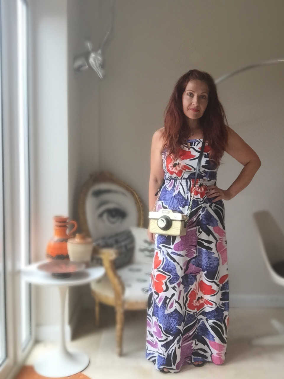 M&Co. petite maxi dress review via Always a blue sky girl fashion blog
