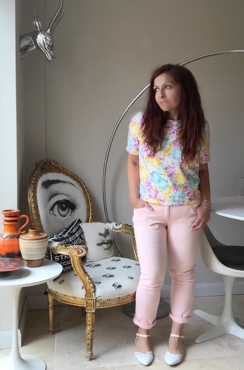 F&F pink jeans & Primark top via Always a Blue Sky Girl fashion blog