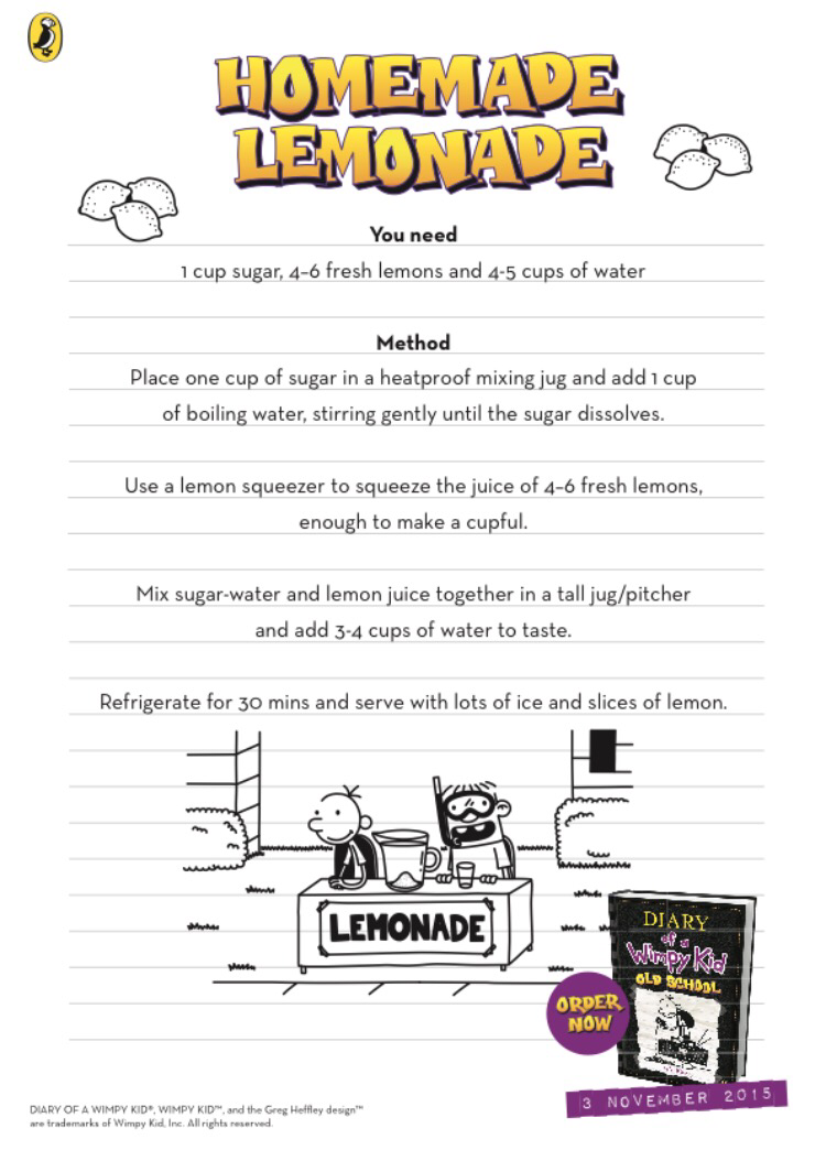 August 2015 always a blue sky girl next we decided to have a go making the homemade lemonade as featured in the book here is the recipe courtesy of puffin books solutioingenieria Images