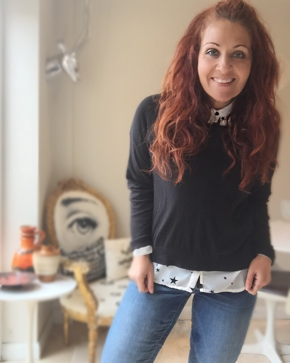 autumn uniform styling tips - jeans shirt & jumper via always a blue sky girl