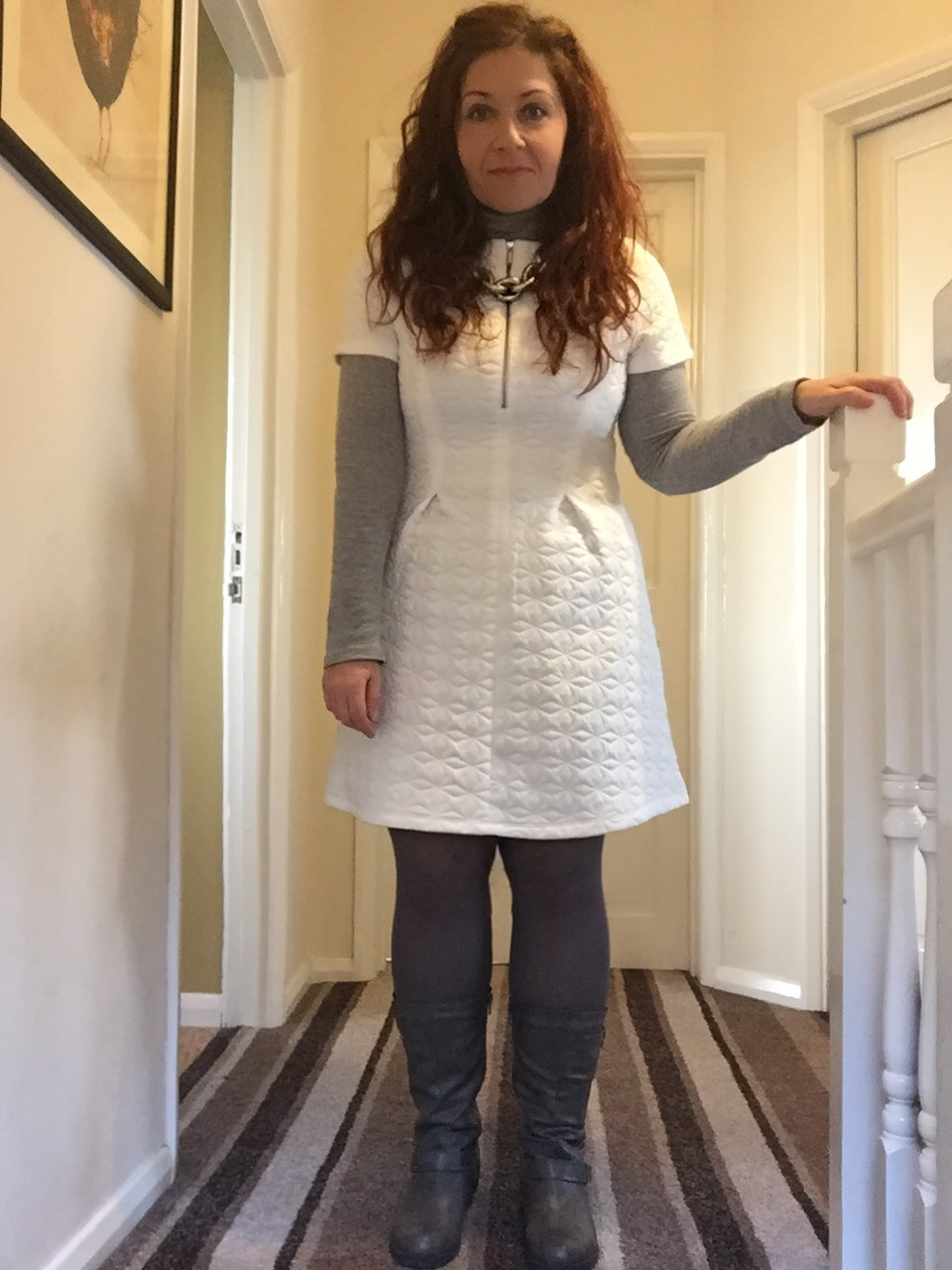 white primark dress styled for winter via Always a Blue Sky girl fashion blog