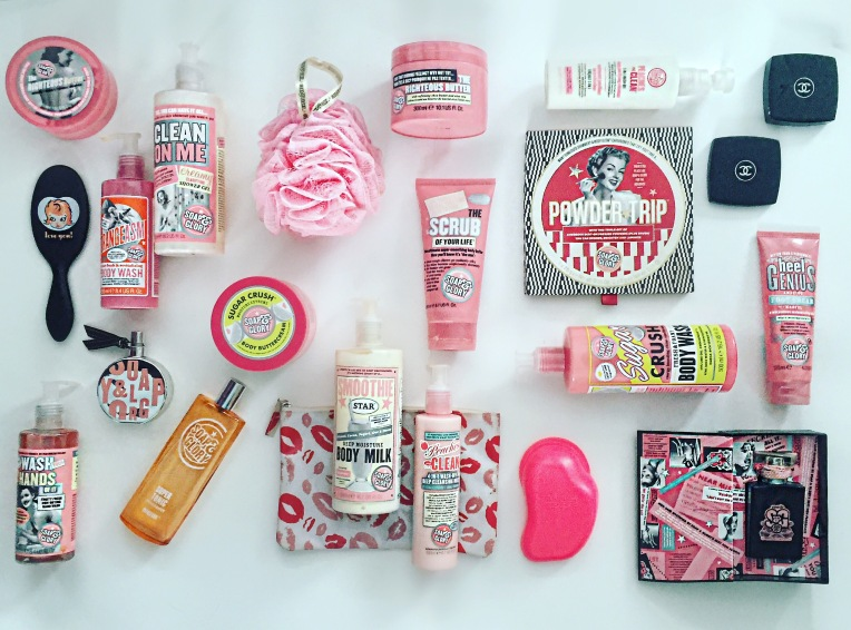 soap and glory flatlay by blueskygirlie via always a blue sky girl fashion beauty home blog