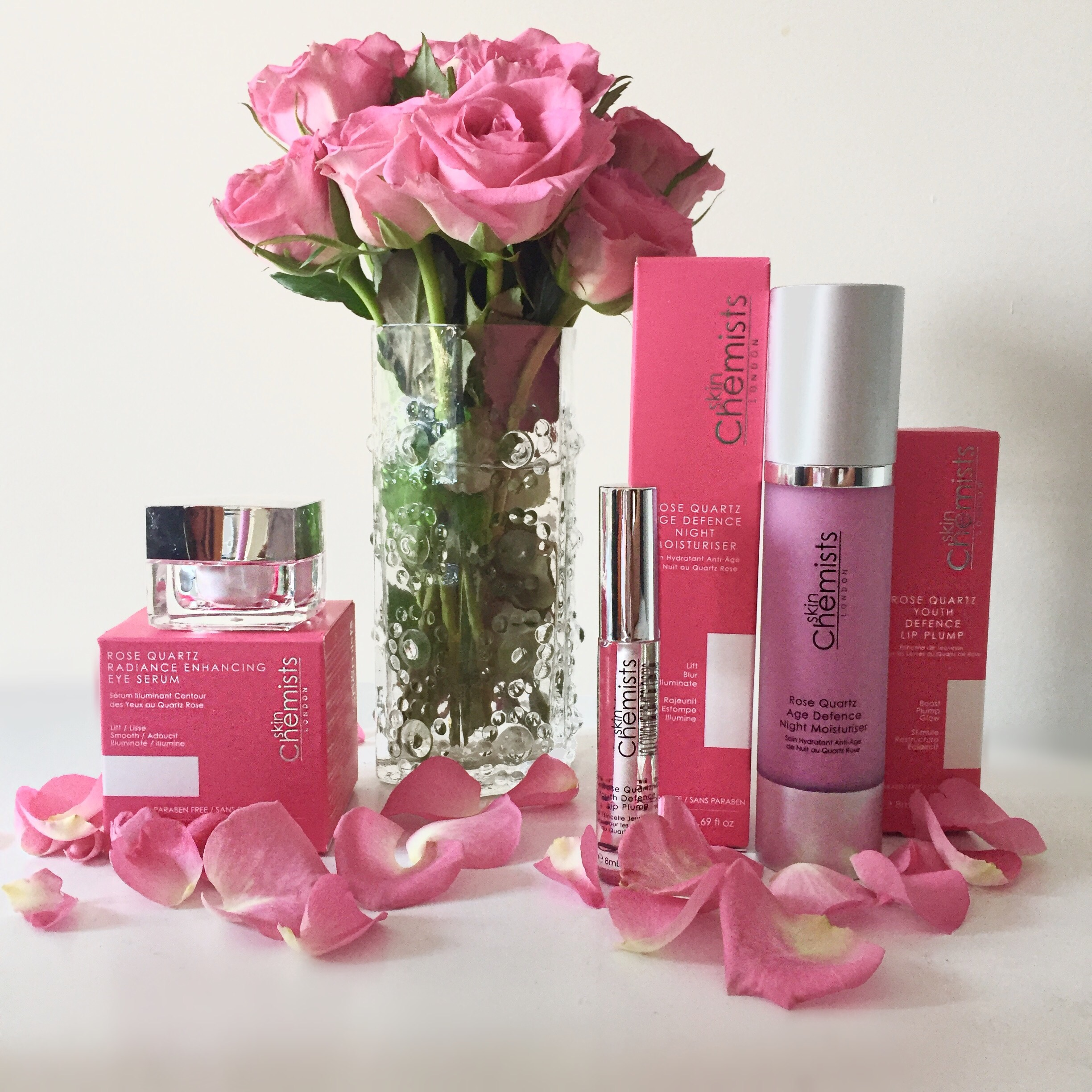 Skin Chemists Rose Quartz range via beauty blog Always a Blue Sky Girl blogger blueskygirlie