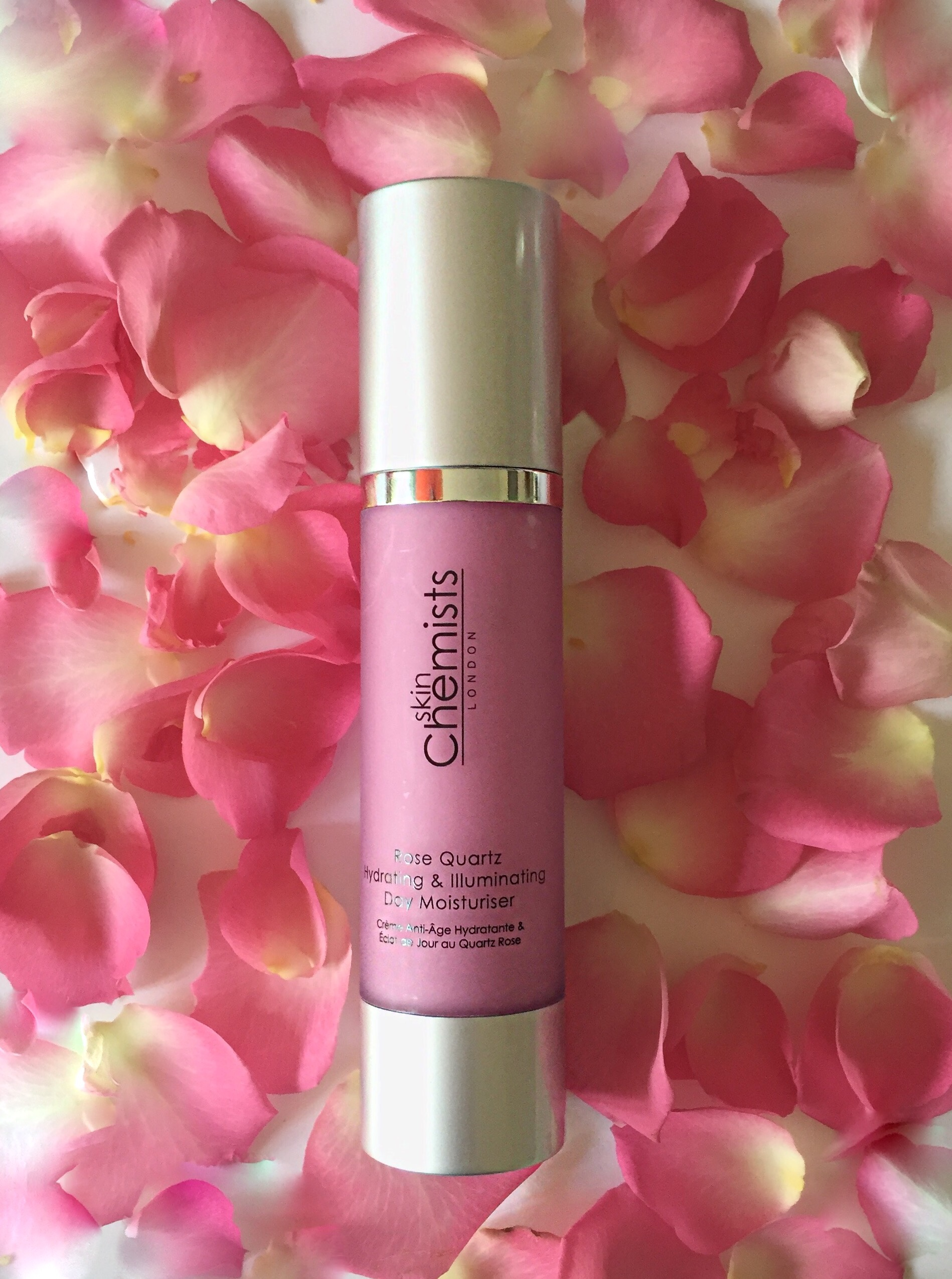 Skin Chemists Rose Quartz Hydrating & Illuminating Day Moisturiser via beauty blog Always a Blue Sky Girl blogger blueskygirlie