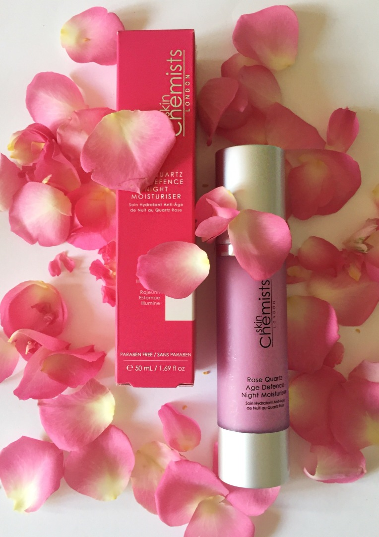 Skin Chemists Rose Quartz Age Defence Night Moisturiser via beauty blog Always a Blue Sky Girl blogger blueskygirlie